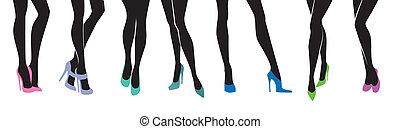 別, 足, 靴, 女性