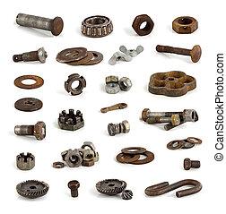 別, 金属, 部分, そして, tools.
