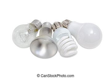 別, 電気である, 照明, ランプ, 様々, タイプ