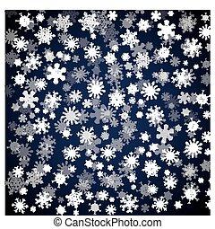 別, 黒, 雪片, 背景, クリスマス