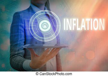 利用できる, inflation., 提示, データ, 増加, 適用, 写真, 網, テキスト, セキュリティー, 概念, 情報, ナンキン錠, system., 商品, 親類, グラフィックス, ボリューム, お金, 印