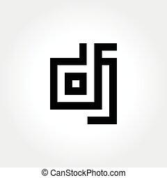 利発, 頭文字, dj, 活版印刷