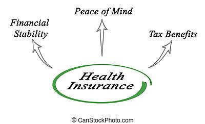 利益, 健康保険