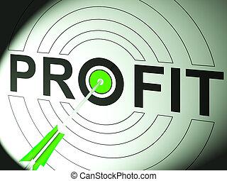 利益, 取引, 成功, ビジネス, ショー
