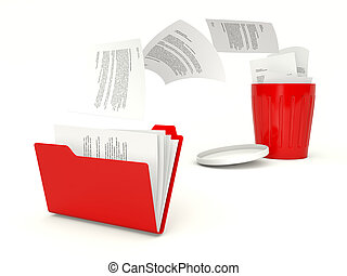 刪除, 文件, recy, 文件夾