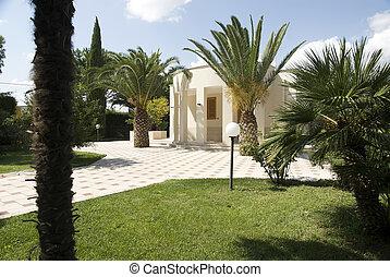 别墅, 带, 花园