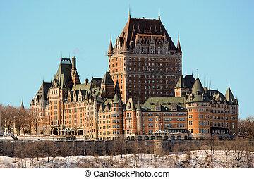 别墅frontenac, 在中, 魁北克城市, 加拿大