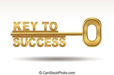 到成功的鑰匙, -, 黃金, 鑰匙