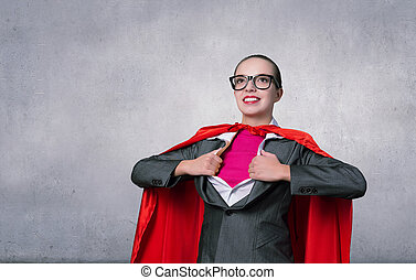 到, 是, 超級婦女, 拿, 力量
