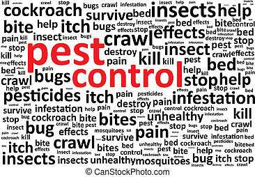 制御, 害虫, 単語, 雲