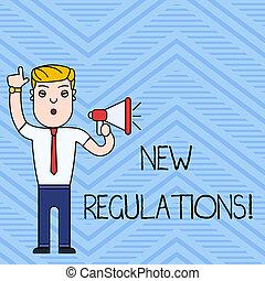 制御, 概念, 作られた, 政府, 規則, テキスト, 執筆, 意味, regulations., 何か, 新しい, 手書き, done., 順序