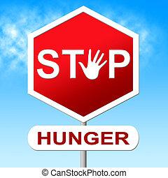制御, 空腹, 食物, 欠乏, 止まれ, 手段