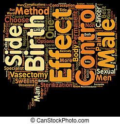 制御, 精管切除, 概念, 出生, テキスト, wordcloud, 知りなさい, 背景, マレ, 副作用