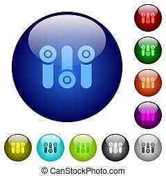 制御, 色, パネル, ガラス, ボタン
