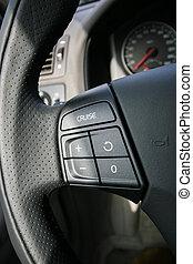制御, 車輪, ステアリング, 自動車, ボタン