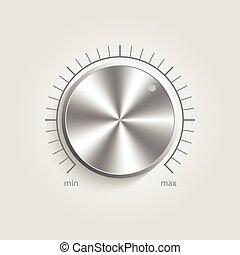 制御, 金属, ボリューム, 音楽, ベクトル
