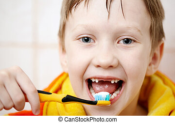 刷你的牙齒