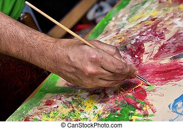 刷子, 艺术家