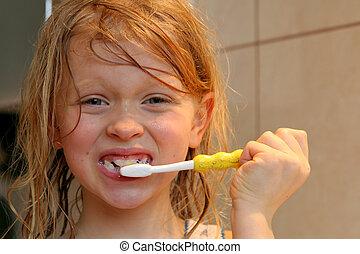 刷, 我, 牙齒