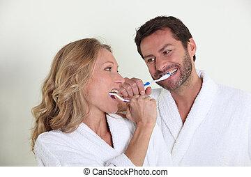 刷, 牙齒