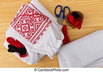 刺繍, 付属品