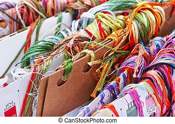 刺繍, 糸, フロス