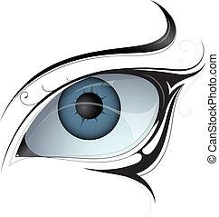 刺花样, 妇女眼睛