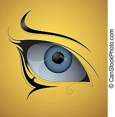 刺花样, 眼睛
