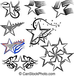 刺花样, 设计, 星