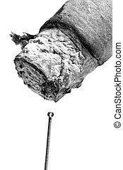 刺鍼術の 針, moxibustion, 葉巻き