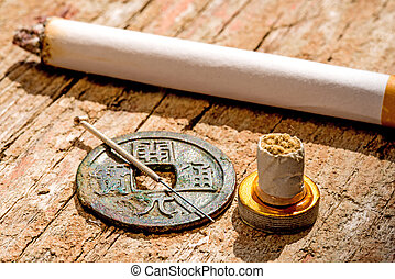 刺鍼術, 喫煙の中止