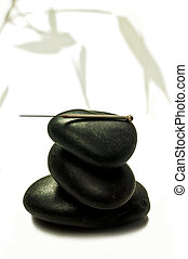 刺鍼術, 石, 針