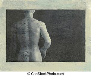 刺鍼術, 背中