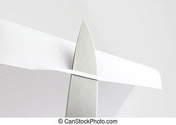 削ること, ペーパー, 点検, ナイフ, 刃