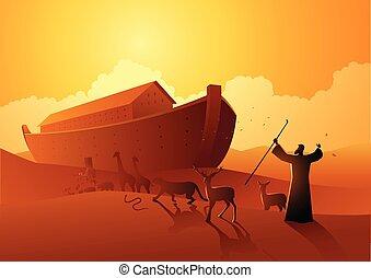 前に, 洪水, 偉人, ノア, 避難所