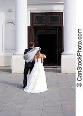 前に, 結婚式