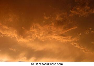 前兆である, 雲, 嵐