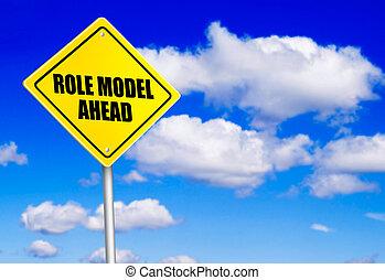 前方に, 印, 役割モデル, メッセージ, 道
