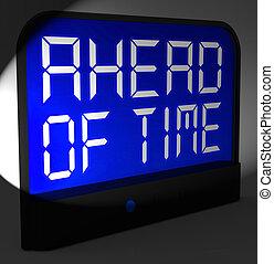 前方に, 時計, 以前に, 時間, デジタル, expected, より, ショー