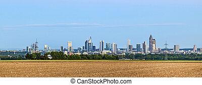前景, 地平线, frankfurt, 领域