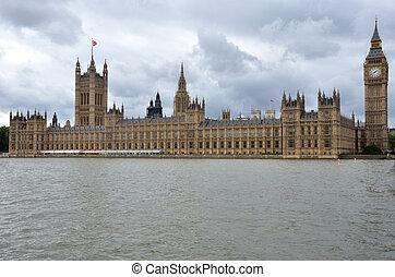 前景, 议会, thames, 房子