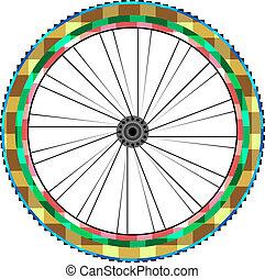 前部車輪, の, a, 山 バイク