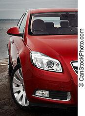 前部, さくらんぼ, 細部, 赤い自動車