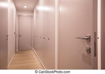 前部, アパート, ドア