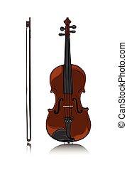 前部, バイオリン弓, 光景
