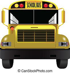 前部, バス, 学校