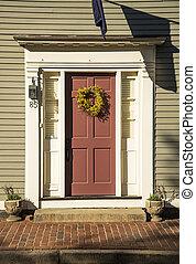 前部, ボストン, ドア, 赤
