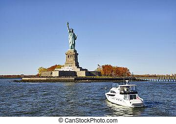 前部, ボート, 像, 自由