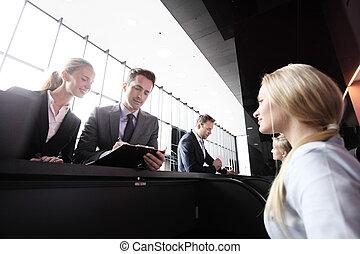 前部, 人々ビジネス, 机