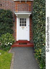 前部, 伝統的である, ドア, 家